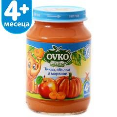 Тиква с ябълки и морков от 4-ия месец 190 гр.
