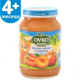 Ябълки, кайсии, и моркови от 4-ия месец 190 гр.