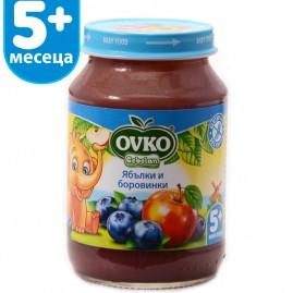 Ябълки и боровинки от 4-ия месец 190 гр.