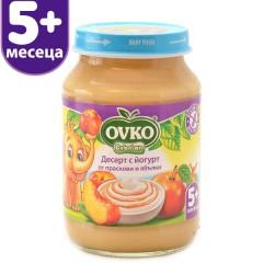 Десерт с йогурт Праскови и Ябълки от 5-ия месец 190 гр.