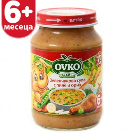 Зеленчукова супа с пилешко от 6-ия месец 190 гр.