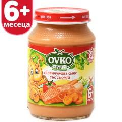 Сьомга със зеленчуци от 6-ия месец 190 гр.