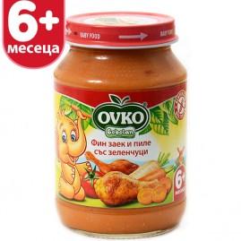 Фин заек и пиле със зеленчуци от 6-ия месец 190 гр.