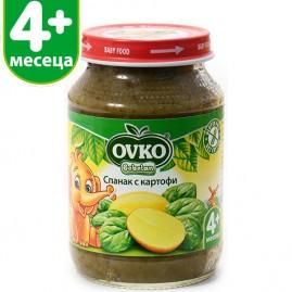 Спанак с картофи от 4-ия месец 190 гр.