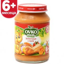 Зеленчуци с пиле 190 гр.
