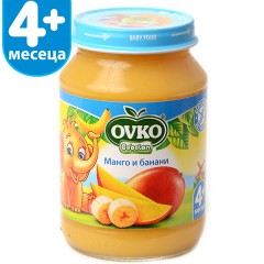 Манго с банани от 4-ия месец 190 гр.