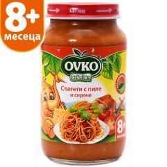 Спагети с пиле и сирене от 8-ия месец 220 гр.
